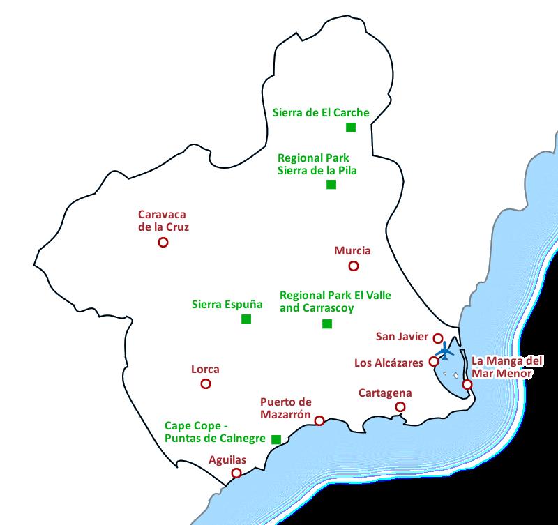 Map Costa Cálida