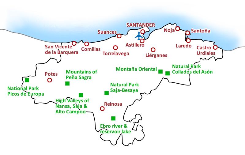 Map Costa de Cantabria