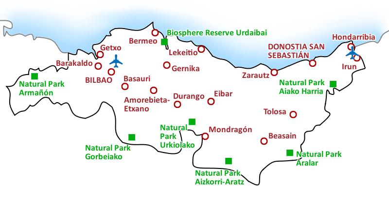 Map Costa Vasca