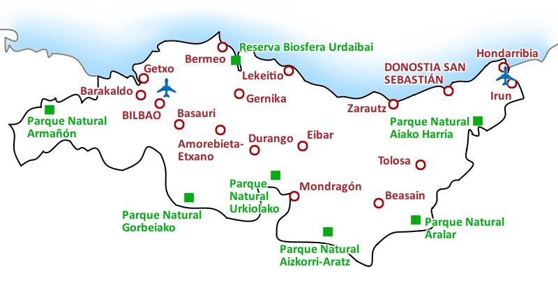 Mapa Costa Vasca
