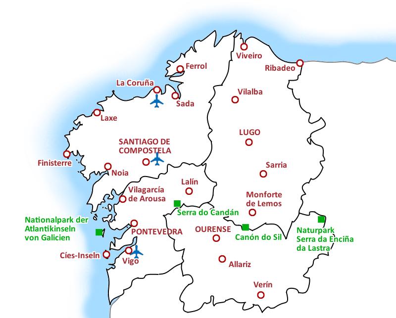 Galicien Karte