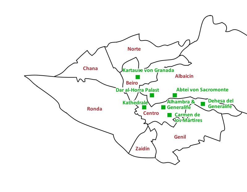 Karte Granada
