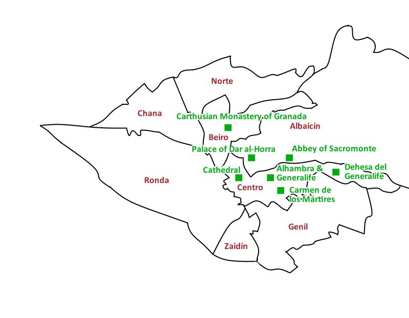 Map Granada