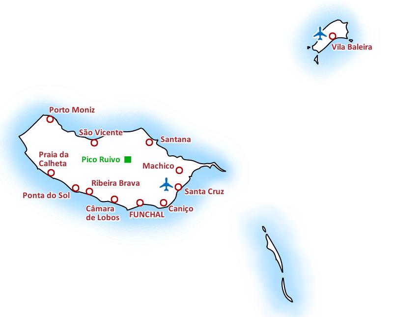 Karte Madeira