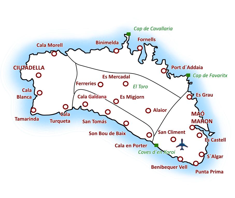 Menorca mapa