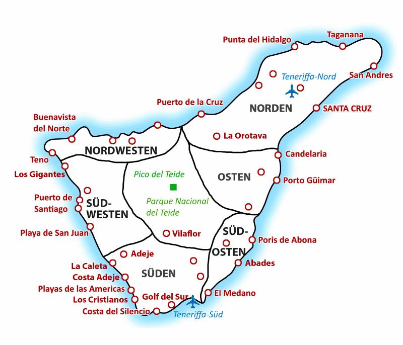 Teneriffa Karte
