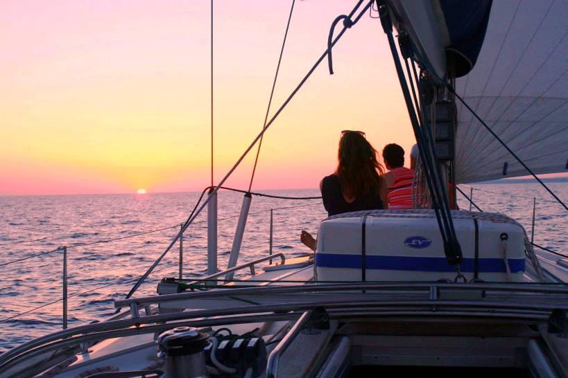 Segeln sonnenuntergang  Segeln Mallorca Sonnenuntergang | sunbonoo.com