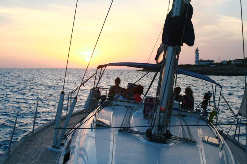 Segeln sonnenuntergang  Heiratsantrag Mallorca | sunbonoo.com