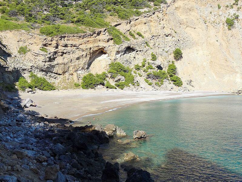 Strand Platja des Coll Baix auf Mallorca