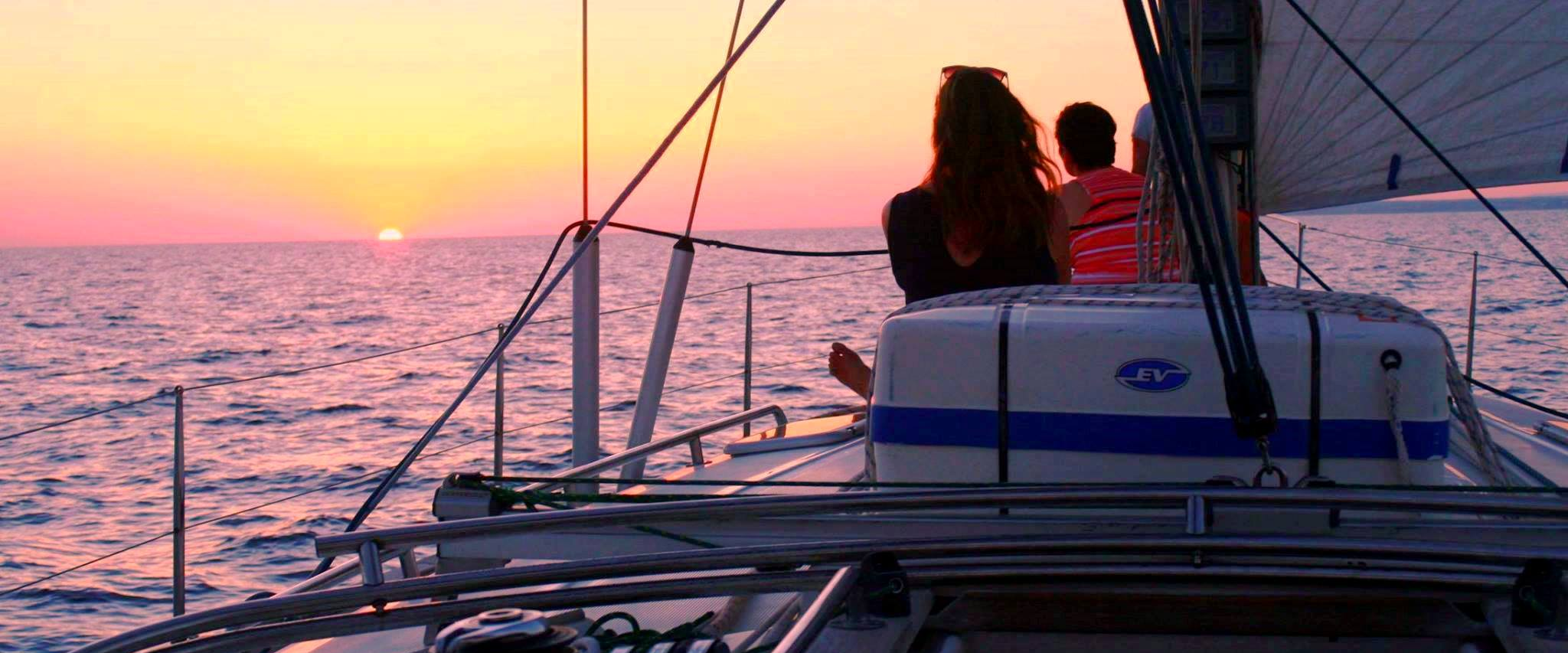 Sunset sailing in Majorca