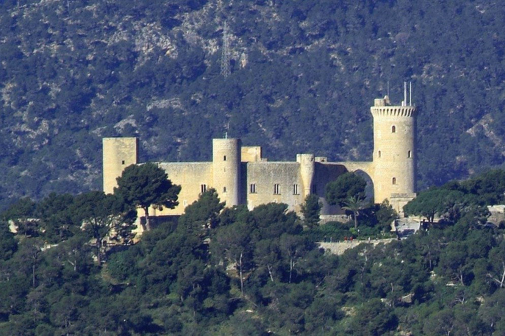 Castle Castell Bellver on the outskirts of the city