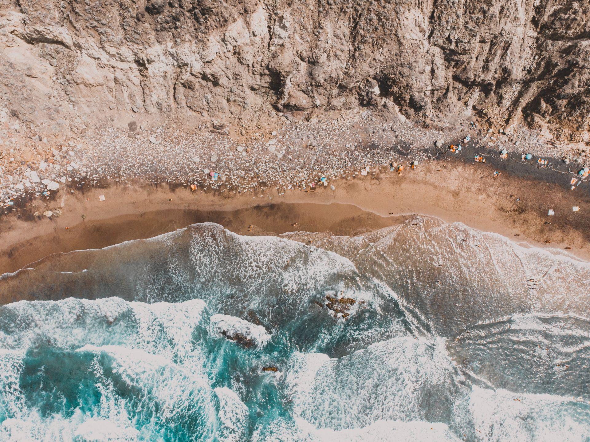 Ruhiger Strand Teneriffa